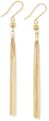 Italian Gold Tassel Drop Earrings in 14k Gold