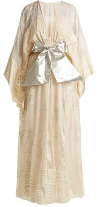 Zandra Rhodes Summer Collection The 1973 Field Of Lilies Gown - Womens - Cream