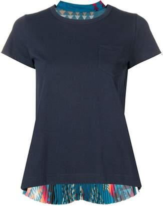 Sacai pleated Navajo print T-shirt