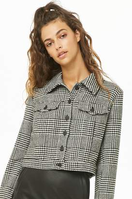 Forever 21 Houndstooth Cropped Jacket
