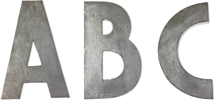 Anthropologie Zinc Letters