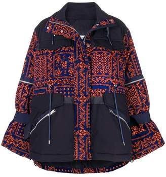 Sacai printed zipped jacket