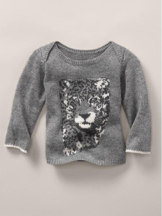 Stella McCartney leopard intarsia cashmere sweater