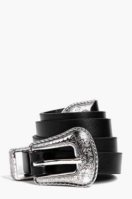 boohoo Western Buckle Belt