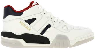 Versace Sneakers Leather Sneakers With Maxi Rubber Sole