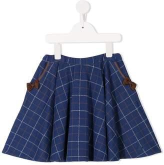 Mikihouse Miki House checked mini skirt