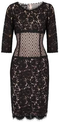 Moschino Black Panelled Lace Dress