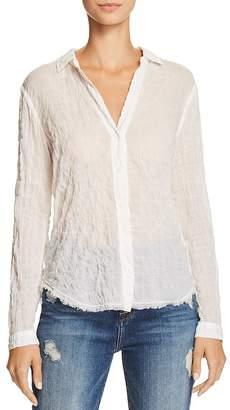 Bella Dahl Frayed-Hem Button-Down Shirt