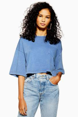 Topshop Acid Wash Crop T-Shirt