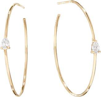 Lana Pear Diamond Hoop Earrings