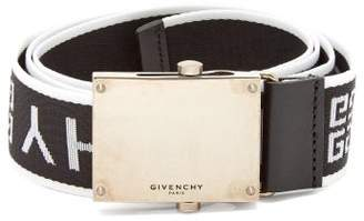 Givenchy Logo Jacquard Belt - Mens - Black White
