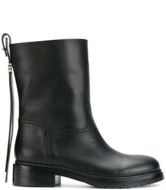 Giorgio Armani back zip boots