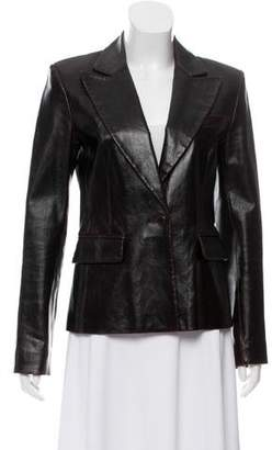 Theory Leather Notch-Collar Jacket