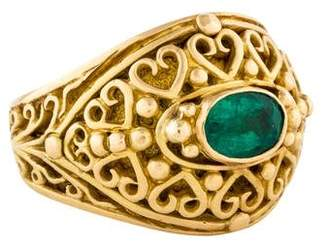 Konstantino 18K Emerald Tapered Dome Ring