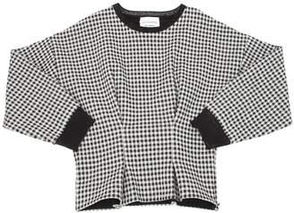 Les Coyotes De Paris Checkered Cotton Sweatshirt