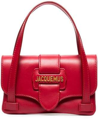 Jacquemus red Le Sac Minho leather mini bag