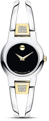 Movado Amorosa Diamond Two-Tone Watch, 24mm