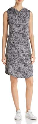 Bobeau B Collection by Sleeveless Leopard-Print Hoodie Dress