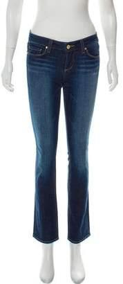 Paige Denim Low-Rise Straight-Leg Jeans