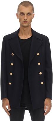 Bottega Martinese Double Breasted Virgin Wool Blend Jacket