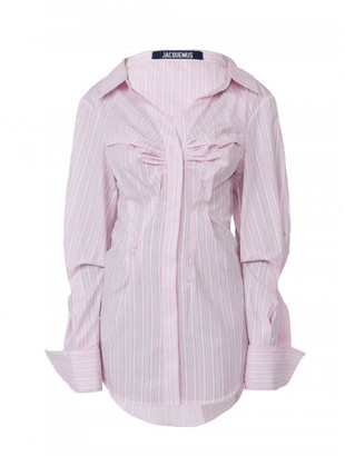 Jacquemus THE WEBSTER X LANE CRAWFORD STRIPED SHIRT DRESS $486 thestylecure.com