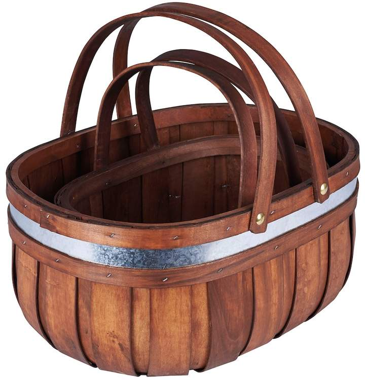 2-piece Decorative Cedar Market Basket Set