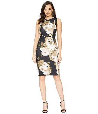Calvin Klein Floral Print Sheath Dress