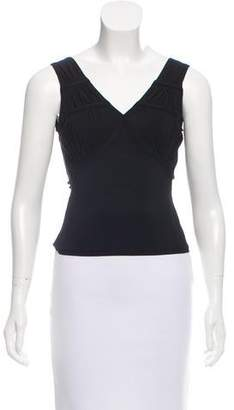 Christian Dior Sleeveless Ruched Top