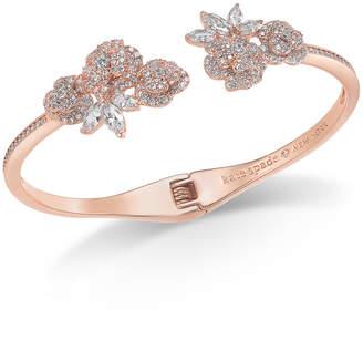 Kate Spade Crystal Flower Cuff Bracelet