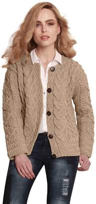 Carraigdonn Carraig Donn Ladies Irish Merino Wool Cardigan