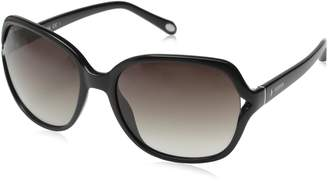 Fossil Women's FOS3020S Square Sunglasses, Charcoal/Pal Rose