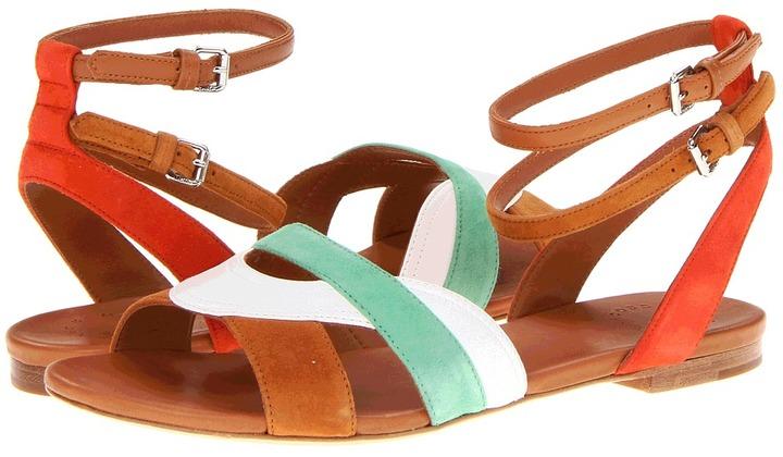 Marc by Marc Jacobs Color Weave Sandal Flat (Orange/Tan/White/Green) - Footwear