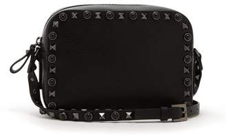 Valentino Rolling Rockstud Camera Leather Cross Body Bag - Womens - Black