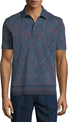 Etro Men's Graphic Print Polo Shirt