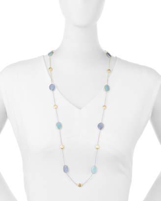 Marco Bicego Siviglia Resort Aquamarine & Chalcedony Long Necklace