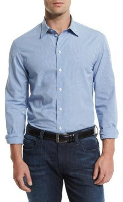 Armani Collezioni Gingham Long-Sleeve Sport Shirt, Multi $265 thestylecure.com
