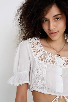 Urban Outfitters Lace Detail Pansy Blouse