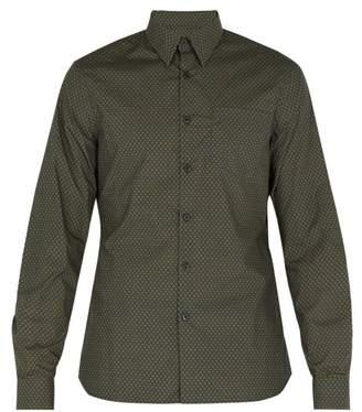 Prada Floral Print Cotton Shirt - Mens - Green Multi