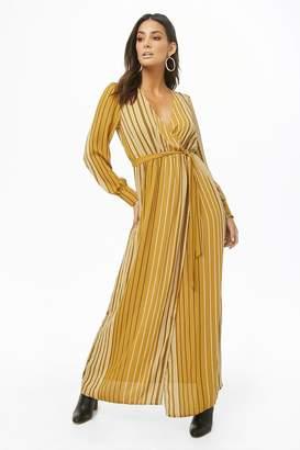 Forever 21 Striped Surplice Maxi Dress