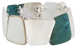 Robert Lee Morris Soho Fade Away Patina Crystal Bracelet