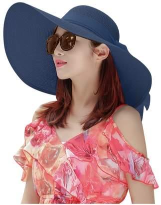 at Amazon Canada · BEIGE ROYOU YIUOER Floppy Hats for Women Beach Sun  Foldable Woven Big Bowknot Summer Fashion Hats 444f2b29e44d