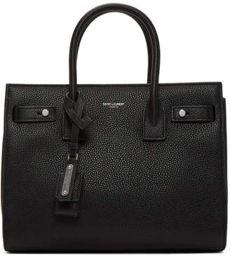 Saint Laurent Black Baby Sac De Jour Souple Tote