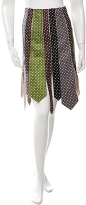 Paul Smith Silk Polka Dot Print Skirt $160 thestylecure.com