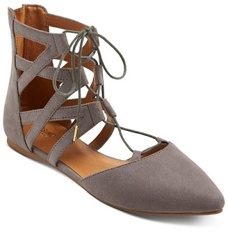 Mossimo Supply Co. Women's Nara Lace Up Ballet Flats - Mossimo Supply Co. $24.99 thestylecure.com