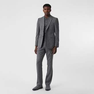 Burberry English Fit Fil Coupé Wool Cotton Tailored Jacket