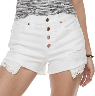 Mudd Juniors' Distressed Jean Shorts
