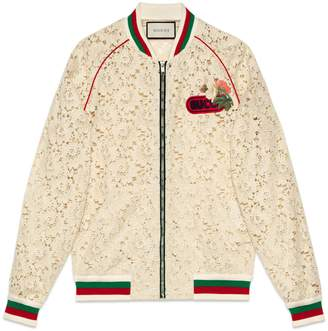 Gucci Flower lace bomber jacket