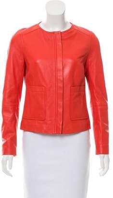 Magaschoni Leather Zip-Up Jacket