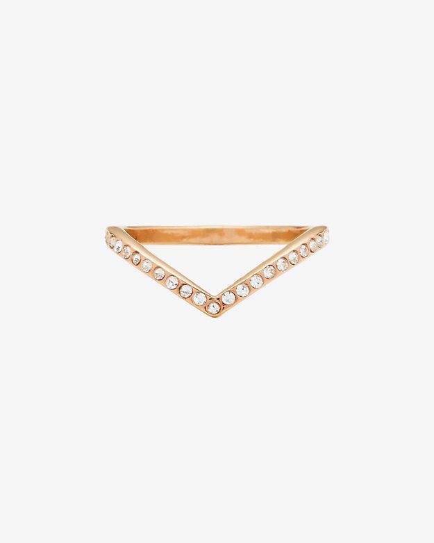 Vita Fede Crystal V Ring: Rosegold