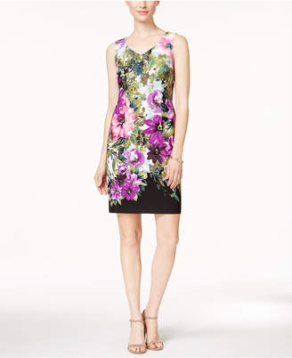 Connected Sleeveless Floral-Print Sheath Dress $69 thestylecure.com